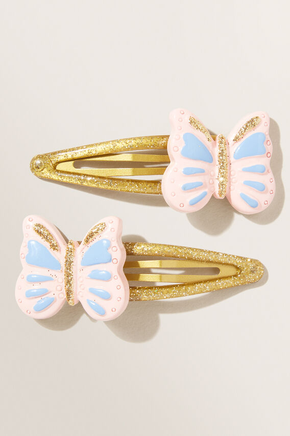 Glitter Butterfly Clips  MULTI  hi-res