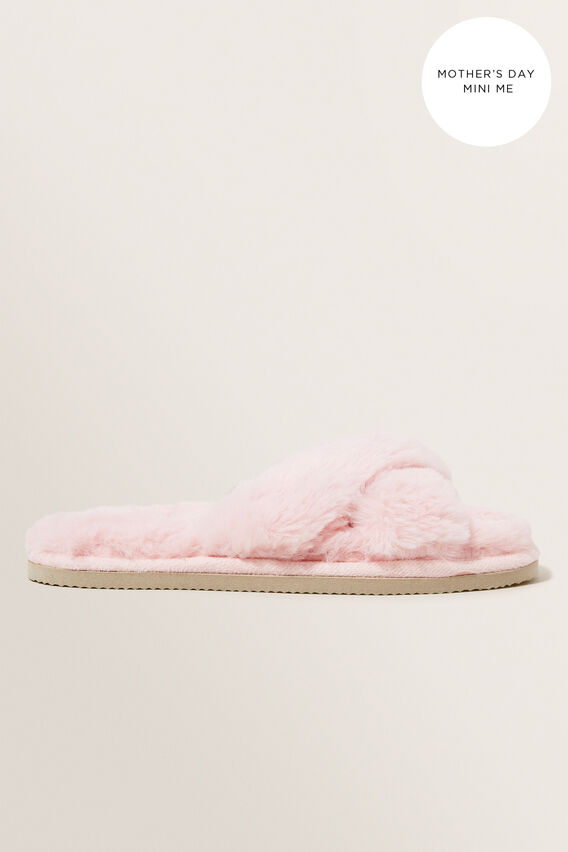 Mini Me Cross Over Slipper  ASH PINK  hi-res