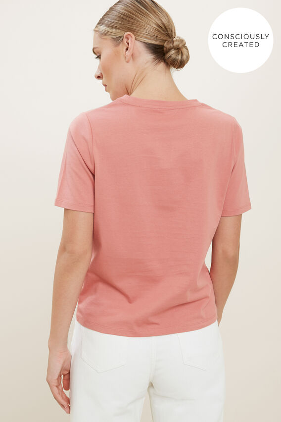 Sustainable Neat Tee  OLD ROSE  hi-res