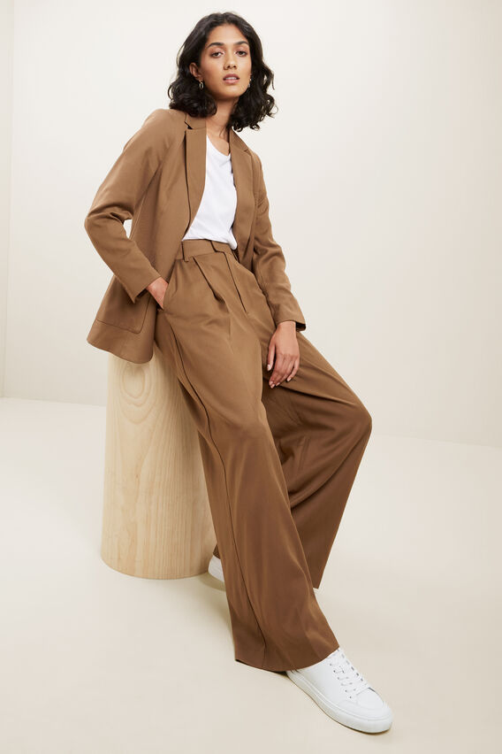 Twill Suit Blazer  MOLASSES  hi-res