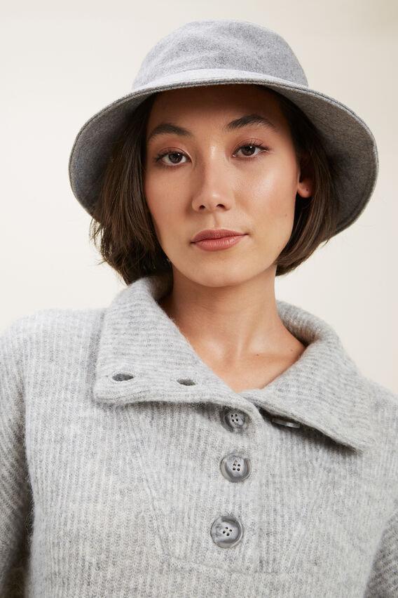 Wool Bucket Hat   GREY  hi-res
