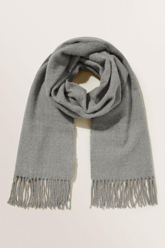 Wool Blend Scarf   GREY  hi-res
