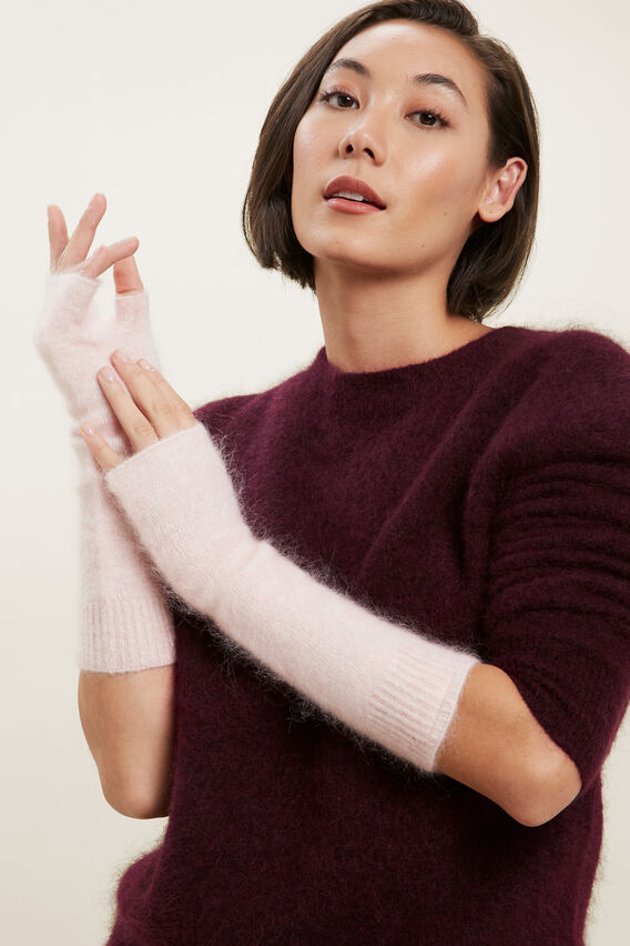 Mohair Arm Warmers  ASH PINK  hi-res