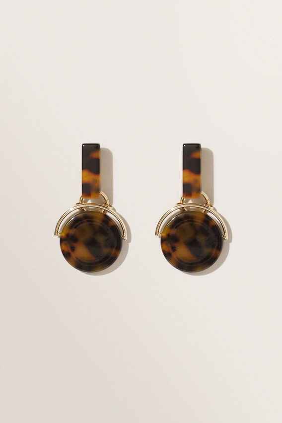 Drop Tort Earrings  TORT  hi-res