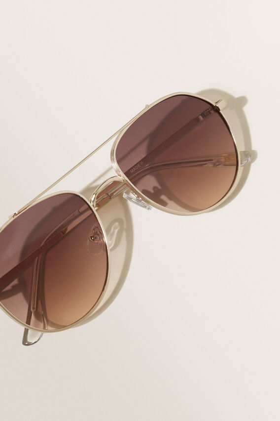Ashley Metal Sunglasses  GOLD  hi-res