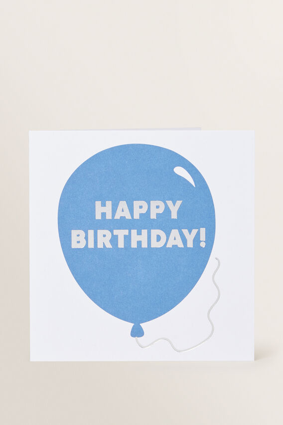 Large Blue Balloon Card  MULTI  hi-res