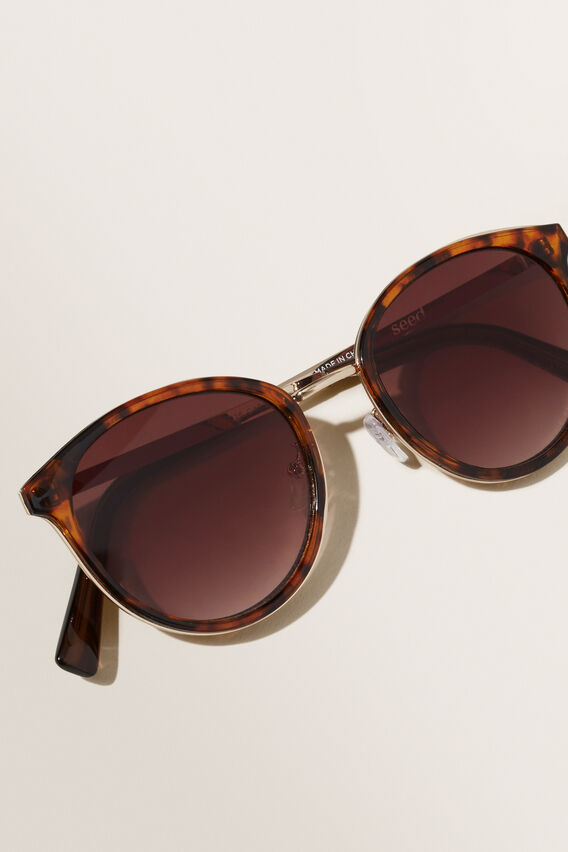 Courtney Metal Sunglasses  AMBER TORT  hi-res
