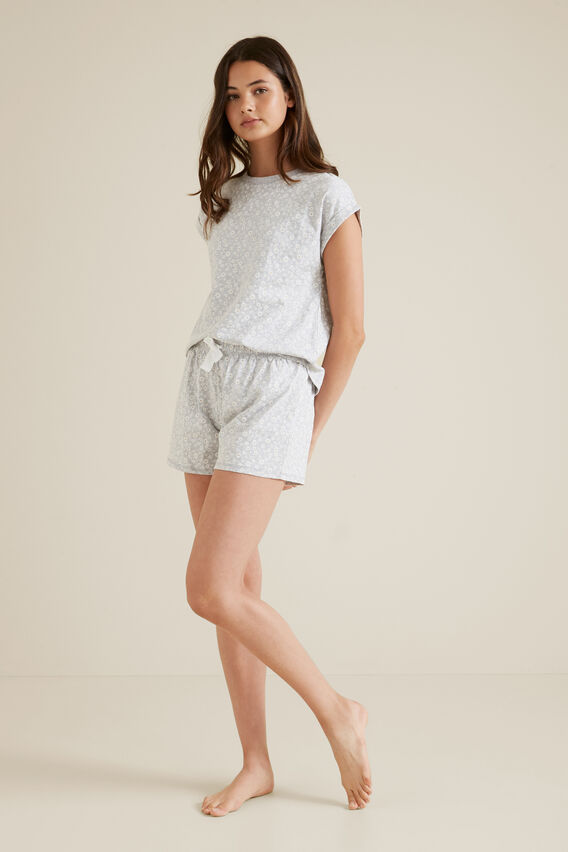 Daisy Print Pyjama  CLOUD  hi-res