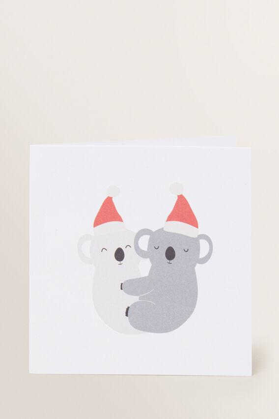 Small Koala Xmas Card  MULTI  hi-res