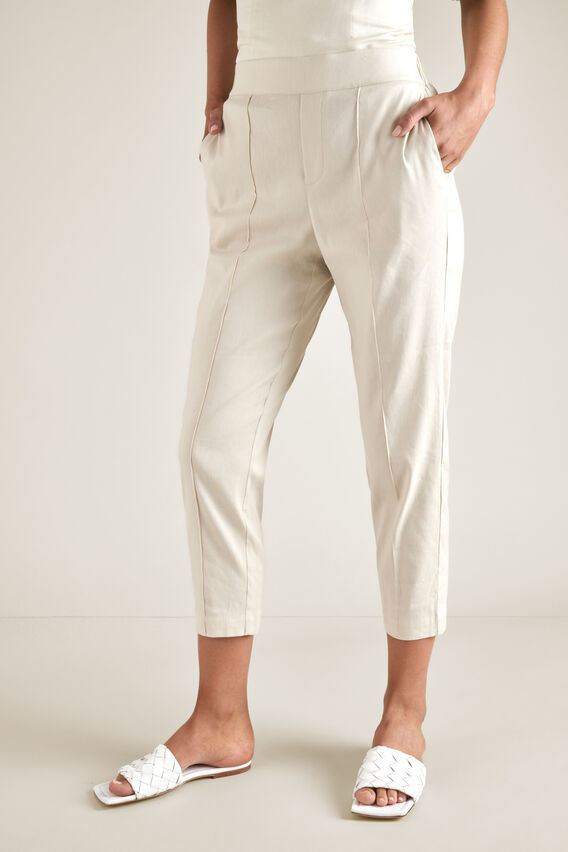 Slim Pintuck Pant  SAND BEIGE  hi-res