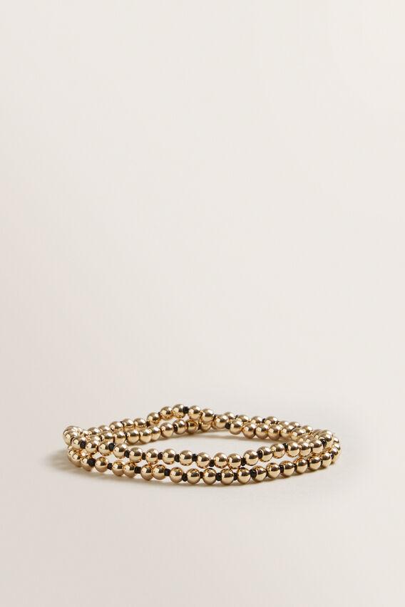 Stretch Bracelet Pack  BLACK/GOLD  hi-res