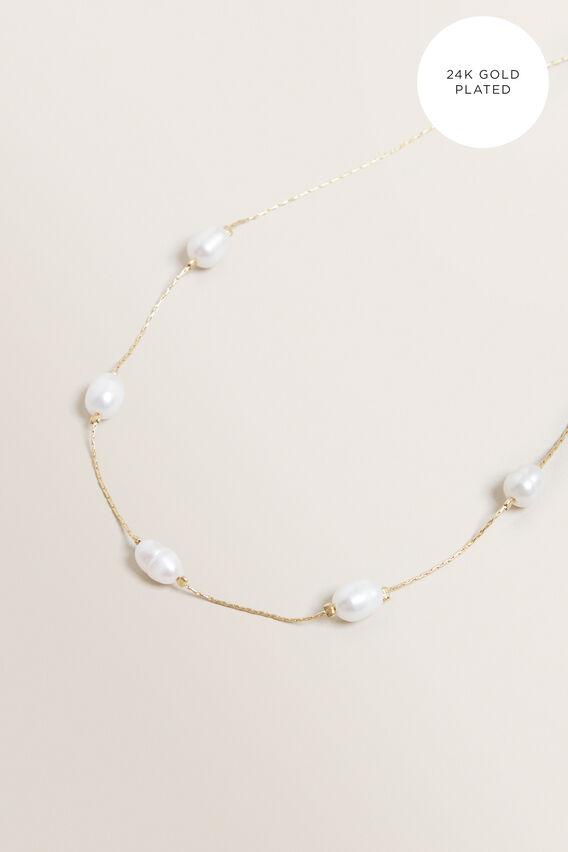 Fine Multi Pearl Necklace  GOLD  hi-res