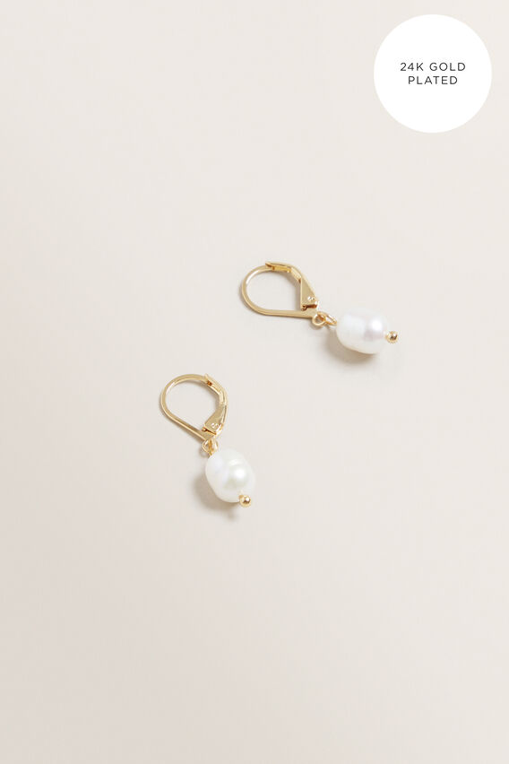 Fine Pearl Drop Earrings  GOLD  hi-res