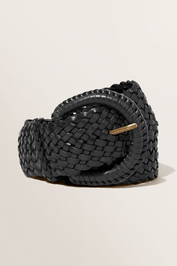 Bella Leather Belt  BLACK  hi-res