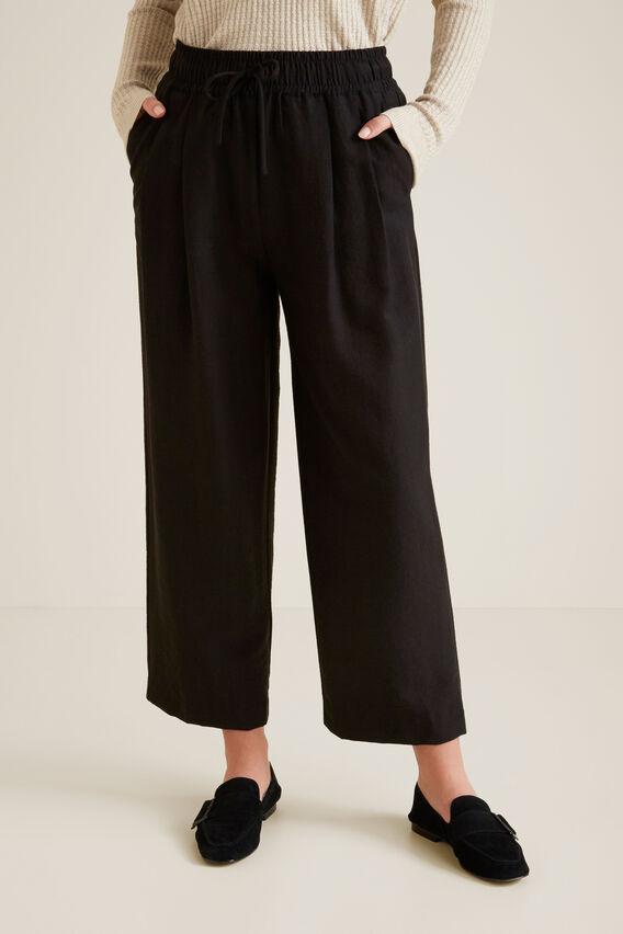Wide Leg Drawstring Pant  BLACK  hi-res