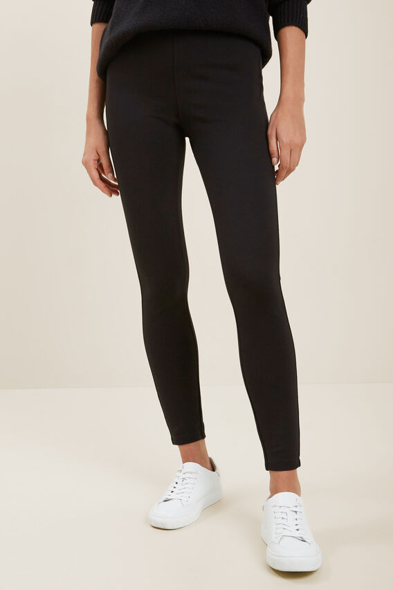 Basic Ponte Pant  BLACK  hi-res