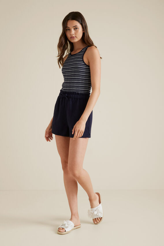 Stripe Rib Tank  MIDNIGHT  hi-res