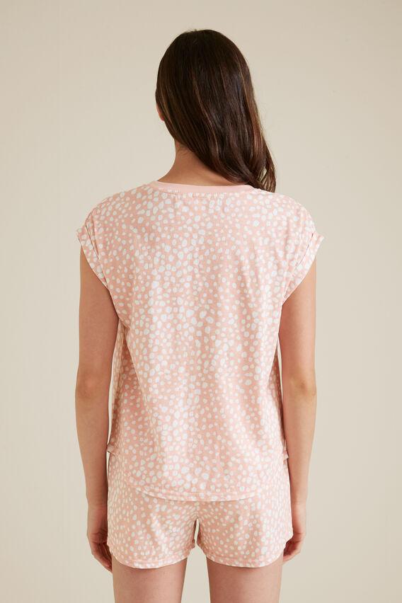 Ocelot Print Pyjama  DUSK PINK  hi-res