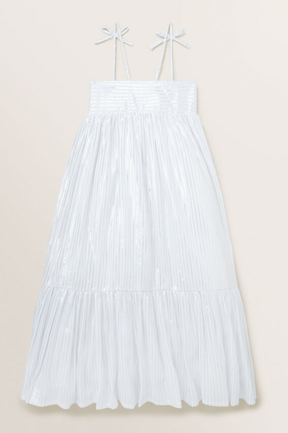 Metallic Dress  WHITE/SILVER  hi-res