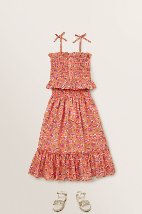 Metallic Floral Midi Skirt  MULTI  hi-res