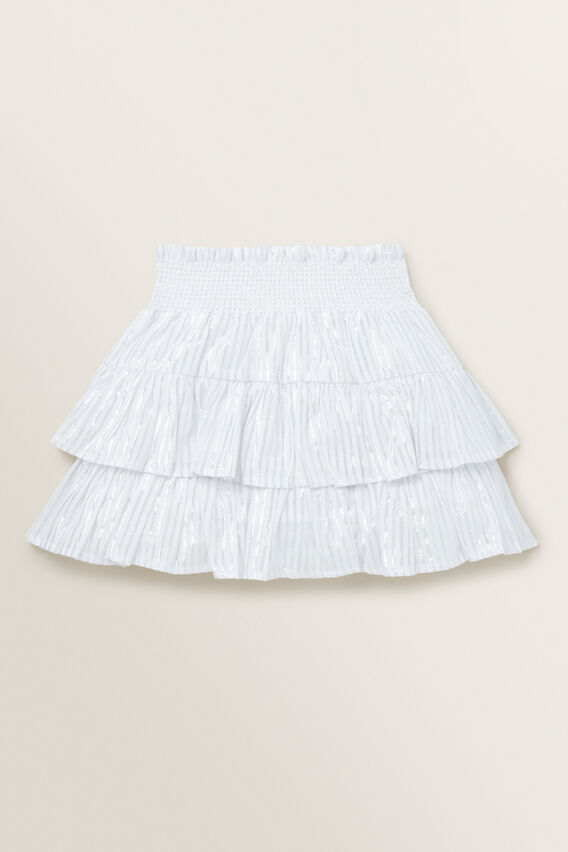 Metallic Skirt  WHITE/SILVER  hi-res
