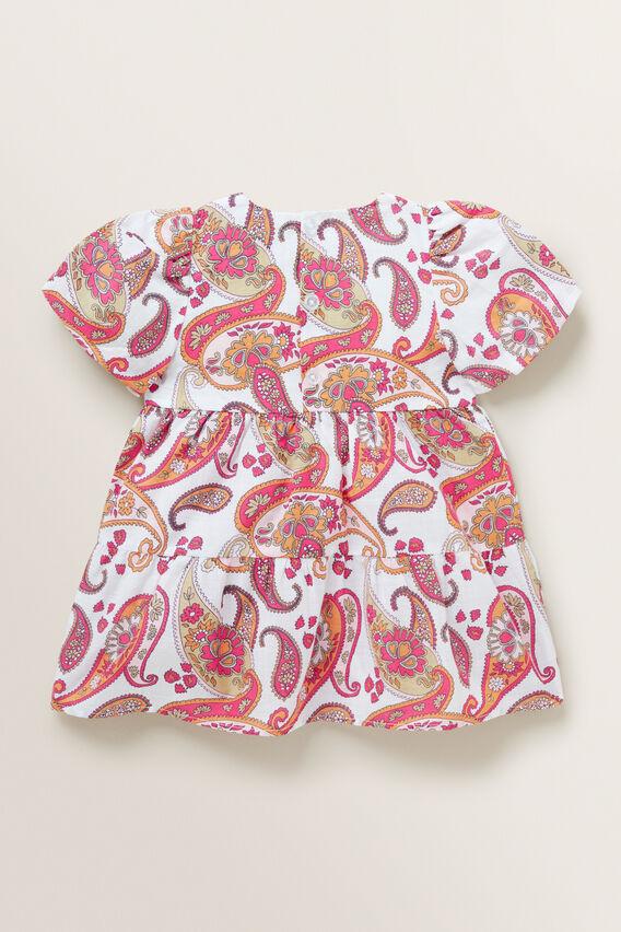 Paisley Puff Sleeve Dress  MULTI  hi-res
