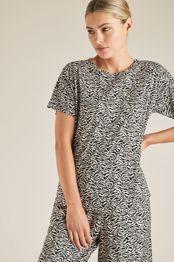 Animal Print Tee  ZEBRA  hi-res