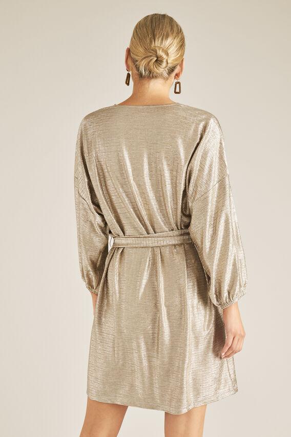 Cracked Metallic Dress  CRACKED GOLD  hi-res