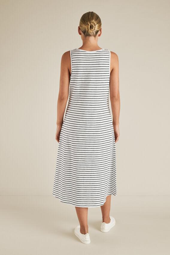 Stripe Sleeveless Jersey Dress  BLACK/WHITE STRIPE  hi-res