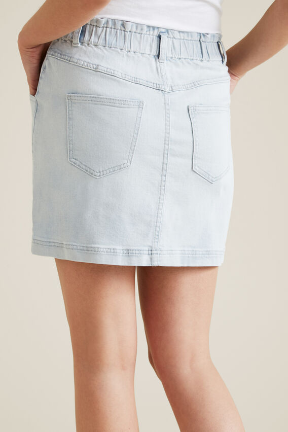 Pull On Denim Skirt  PALE BLUE DENIM  hi-res