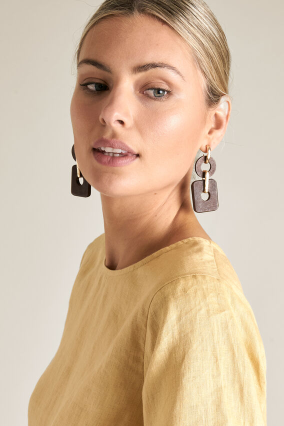 Combination Earrings  WOOD  hi-res