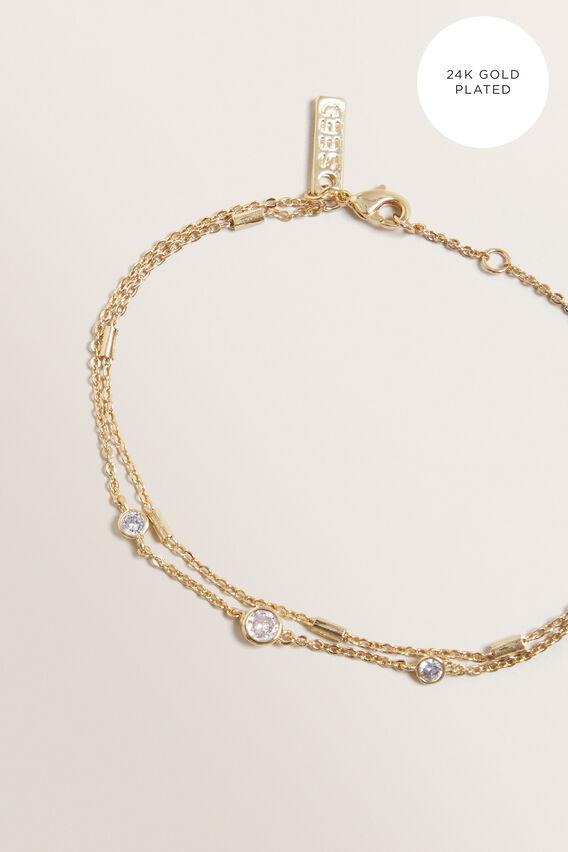 Fine Diamante Bracelet  GOLD  hi-res