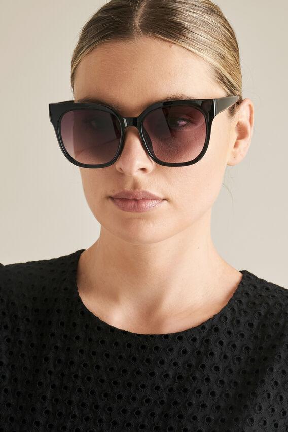 Violet D-Frame Sunglasses  BLACK  hi-res