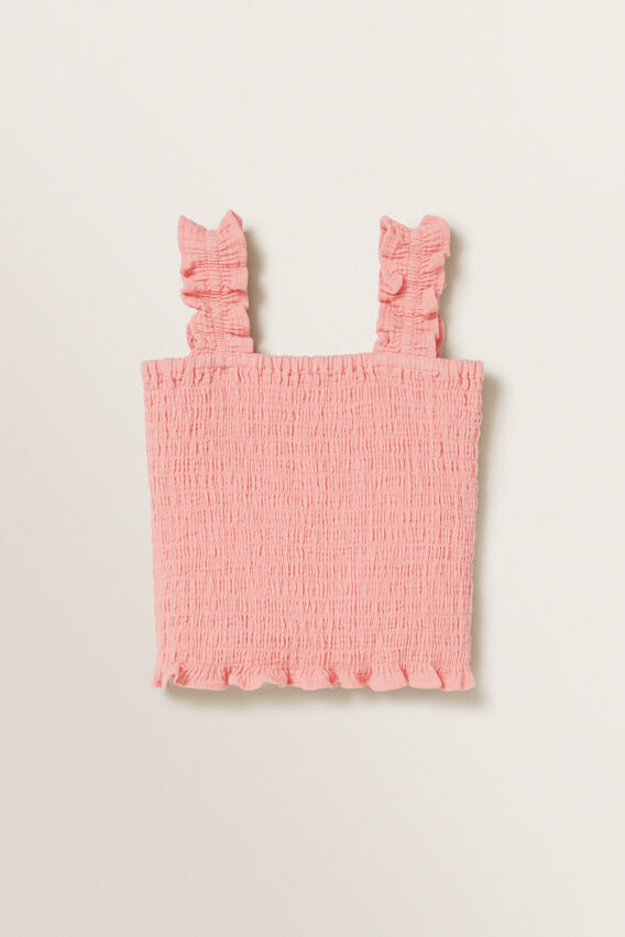 Cheesecloth Top  PEACHY PINK  hi-res