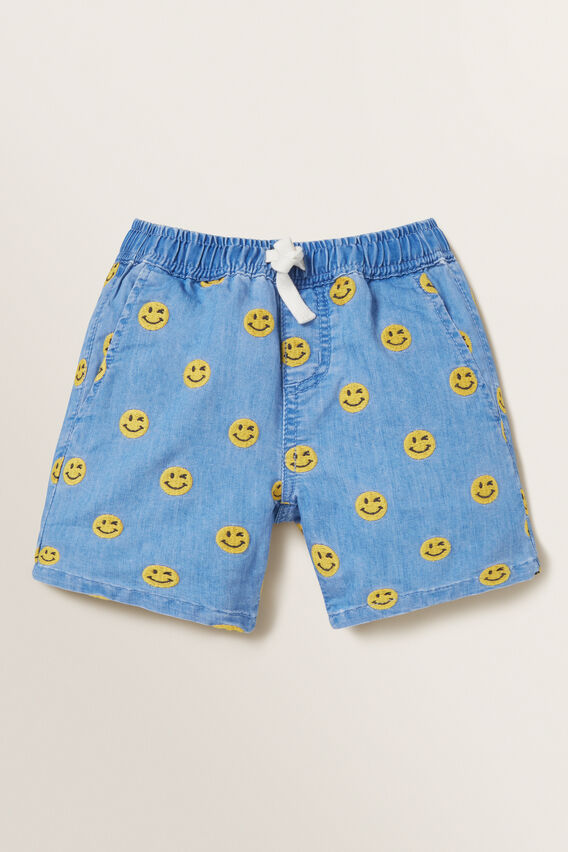 Embroidered Short  BRIGHT WASH  hi-res