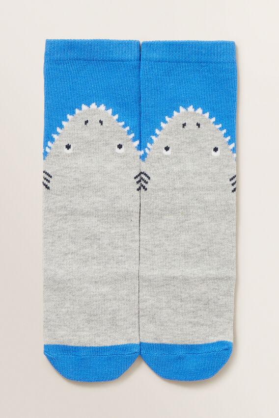 Shark Socks  GREY MARLE  hi-res