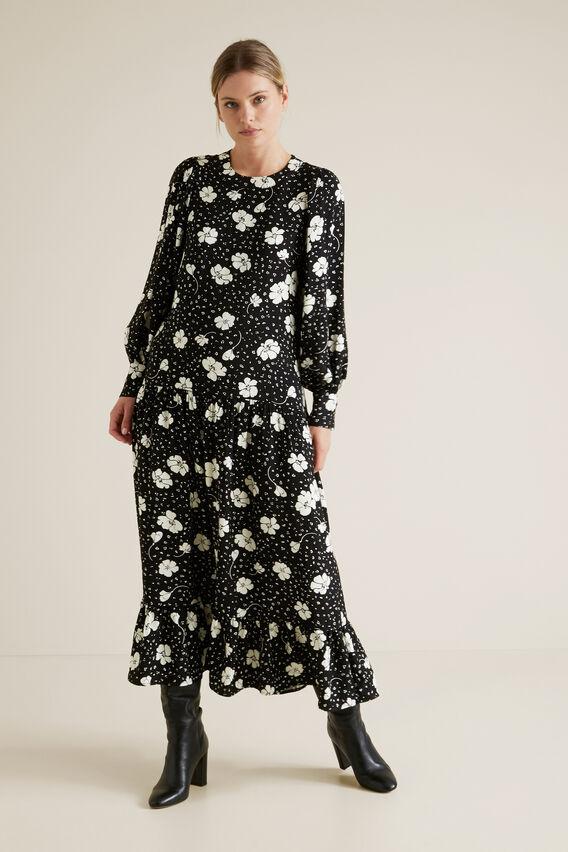 Floral Midi Dress  FLORAL  hi-res