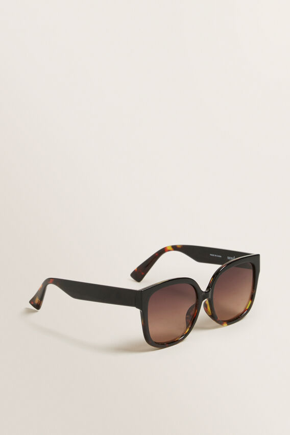 Ella Cat Eye Sunglasses  BLACK/TORT  hi-res