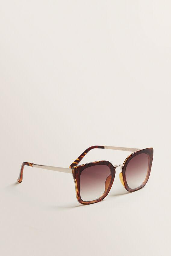 Louisa Cateye Sunglasses  BROWN  hi-res