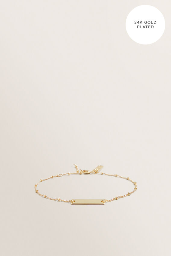 Fine Bar Bracelet  GOLD  hi-res