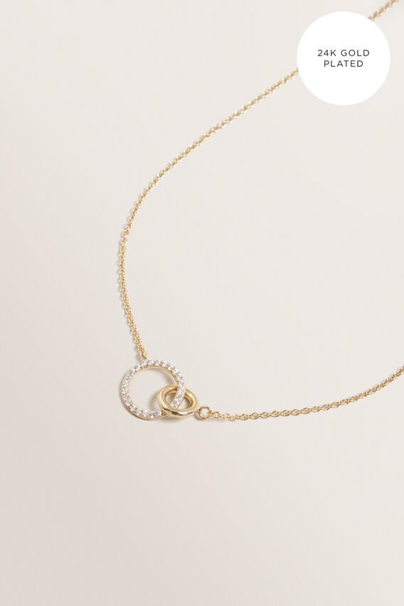 Fine Double Linked Necklace  GOLD  hi-res