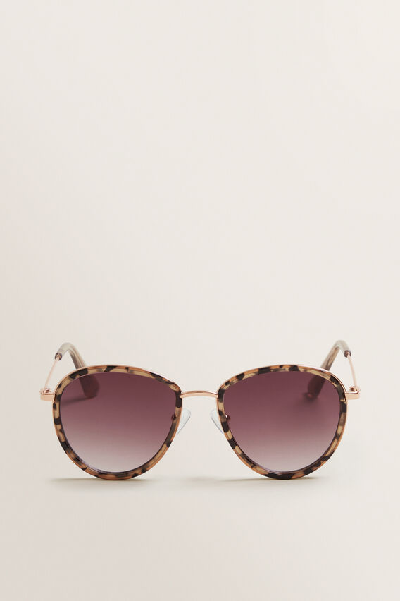 Hazel Round Sunglasses  MILKY TORT  hi-res
