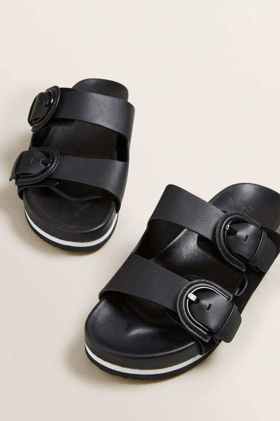 Camilla Footbed Slide  BLACK  hi-res