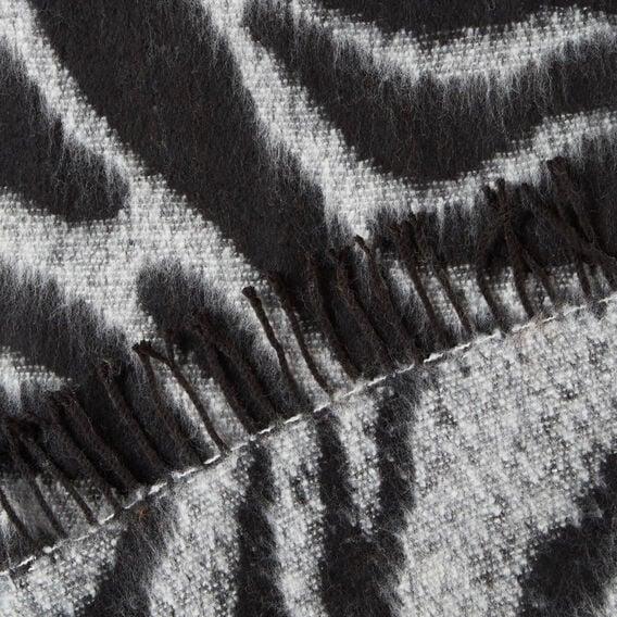 Zebra Print Scarf  BLACK/WHITE  hi-res