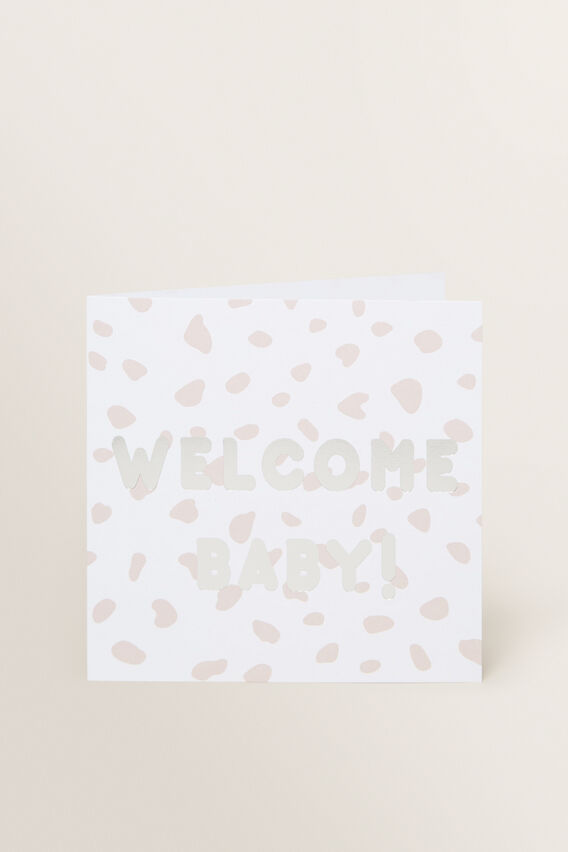 Large Welcome Baby Card  MULTI  hi-res