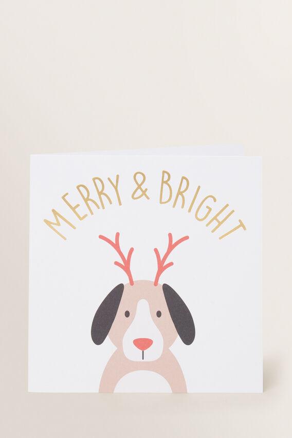 Large Xmas Dog Card  MULTI  hi-res