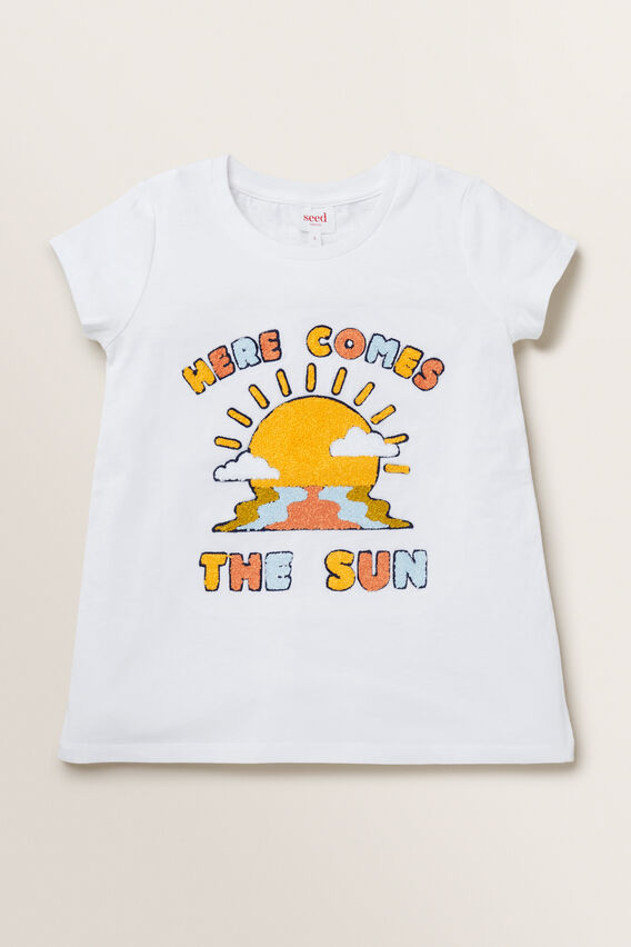 Here Comes The Sun Tee  WHITE  hi-res