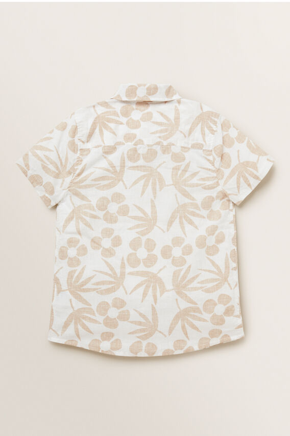 Tropical Print Shirt  FAWN  hi-res
