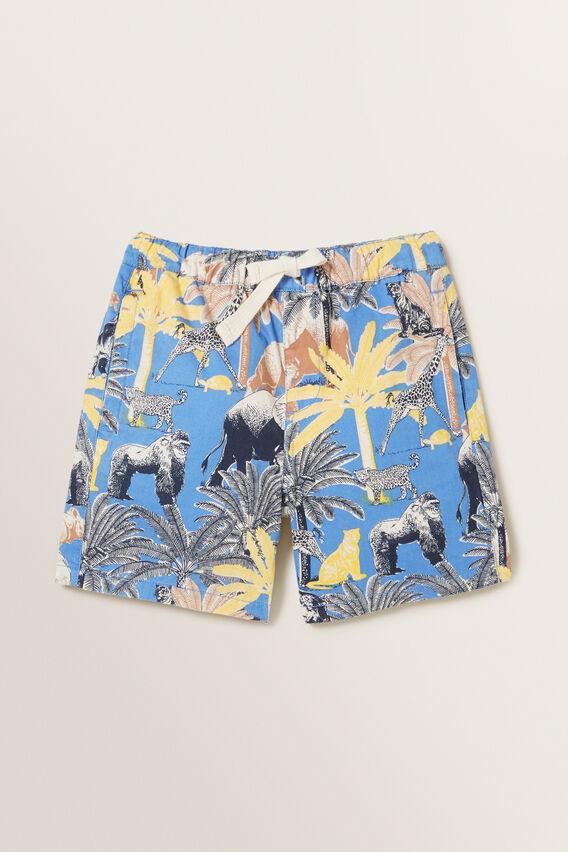 Jungle Palm Shorts  CORNFLOWER BLUE  hi-res
