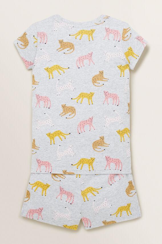 Leopard Short Sleeve Pyjama  CLOUD  hi-res